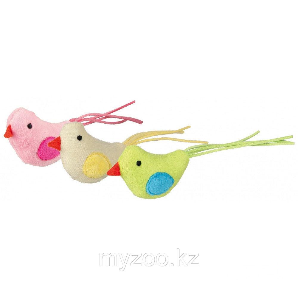 Игрушка для кошек, птица из плюша, Пропитана кошачьей мятой. Р-р 7 см.