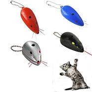 Игрушка для кошек, светящаяся мышка-лазер, развивает охотничий инстинкт, различные цвета, 7 см., фото 2
