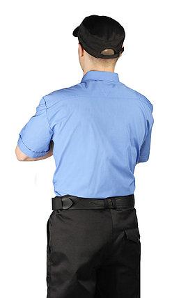 Рубашка охранника мужская голубая с черным в Алматы, фото 2