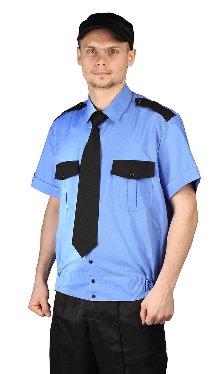 Рубашка охранника мужская с коротким рукавом в Алматы