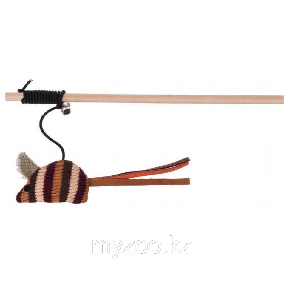 Игрушка для кошек. Удочка с мышкой, 40 см.