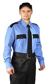 Рубашка охранника мужская с длинным рукавом в Алматы
