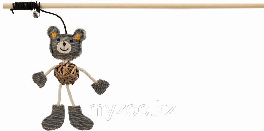 Игрушка удочка для кошек, с медведем, 40 cm