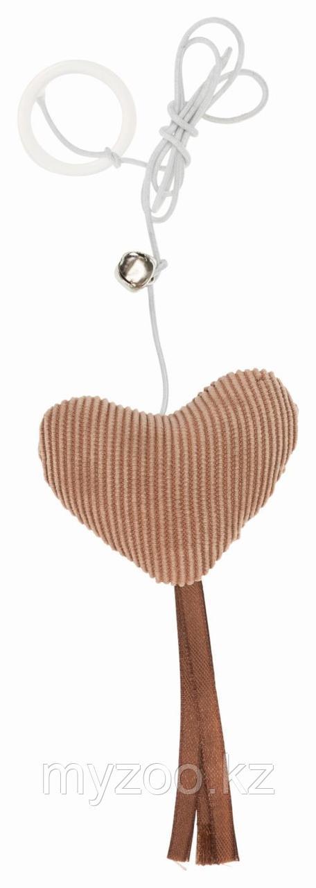 Игрушка для кошек, сердце на веревке, 6 cm/65 cm