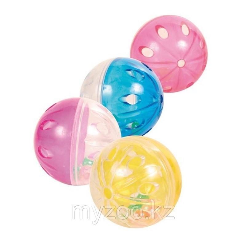 Игрушка для кошек. Пластиковый мячик 4 шт. ø 4.5 cm