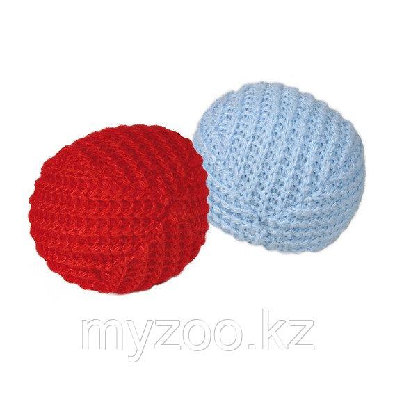 Игрушка для кошек, вязаный мячик, разные цвета. ø 4,5 cm.