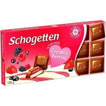 Молочный шоколад Schogetten Cream & Berries 100гр (15 шт. в упаковке)