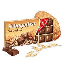Молочный шоколад Schogetten oat cookies кусочками овсяного печенья 100гр (15 шт. в упаковке)