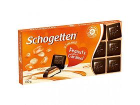 Молочный шоколад Schogetten peanut and salted caramel С АРАХИСОВОЙ ПАСТОЙ И СОЛОНОВАТОЙ КАРАМЕЛЬЮ 100гр