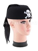 Карнавальная бандана пирата, шляпа пирата с черепом (черная, р-р 56-58)