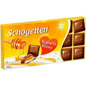 Молочный шоколад Schogetten yougurt and honey с мёдом 100гр (15 шт. в упаковке)