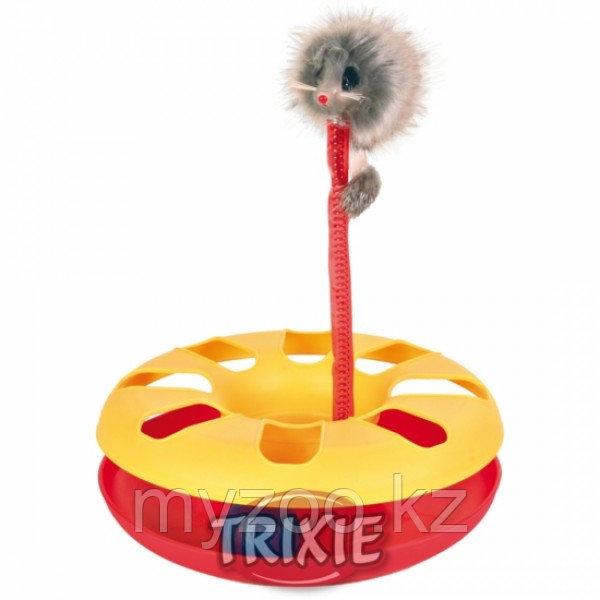 Игрушка пластиковая для кошек, плюшевая мышка на пружине