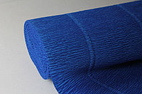 Креппированная бумага  50 см*250см,180г/м.в цвете Bartotecnika Rossi синий