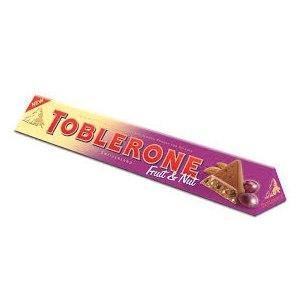Шоколад Toblerone  fruit and nut 100гр. Швейцария