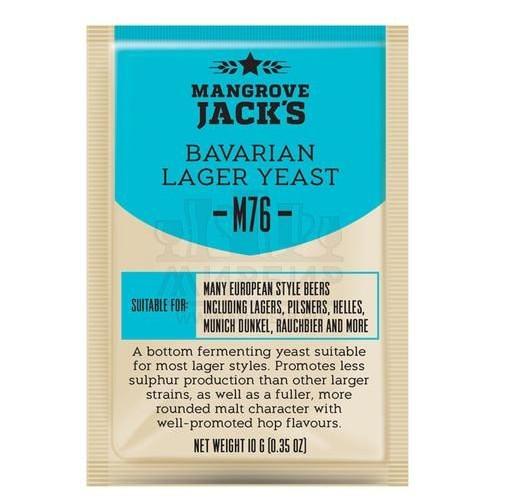 Дрожжи Mangrove Jack's Bavarian Lager M76, 10 г