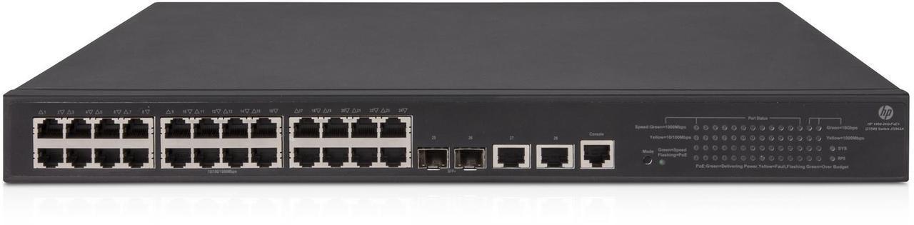 Коммутатор HP Enterprise OfficeConnect 1950 24G 2SFP+ 2XGT PoE+ Switch (JG962A#ABB)