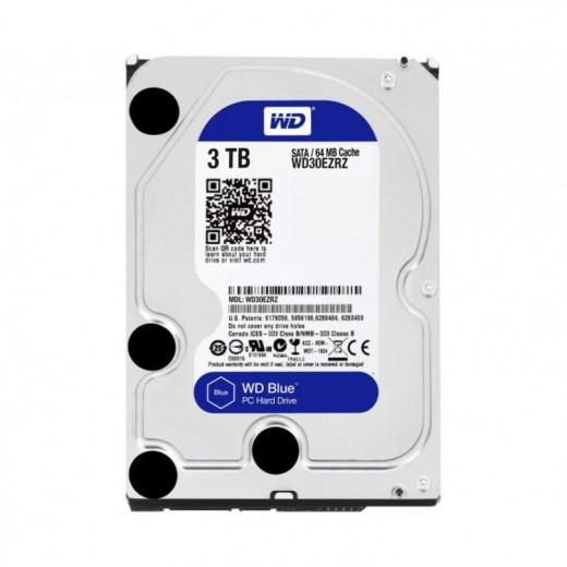 Жесткий диск HDD 3Tb Western Digital Blue SATA WD30EZRZ