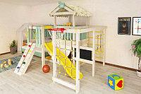 Детская площадка Baby play-8, игровой домик, балкон, швед. стенка, скалодром с канатом., фото 1