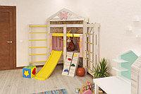 Детская игровая площадка Baby-9, игровой домик, горка, скалодром с канатом, сетка-лазалка, штурвал, фото 1
