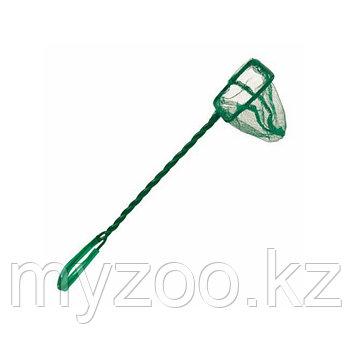 Сачок для аквариума. Тонкая сетка. Витая ручка, пластик. Р-р сетки 10 × 7 cm