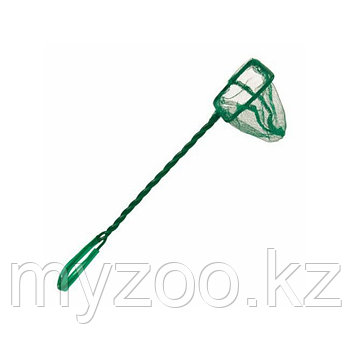 Сачок для аквариума. Тонкая сетка. Витая ручка, пластик. Р-р сетки 12 × 10 cm