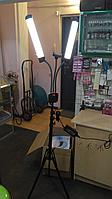 Лампа двухрукавная напольная Led 70*45*2.5 см 50 w для визажистов, фото и видеосъемок