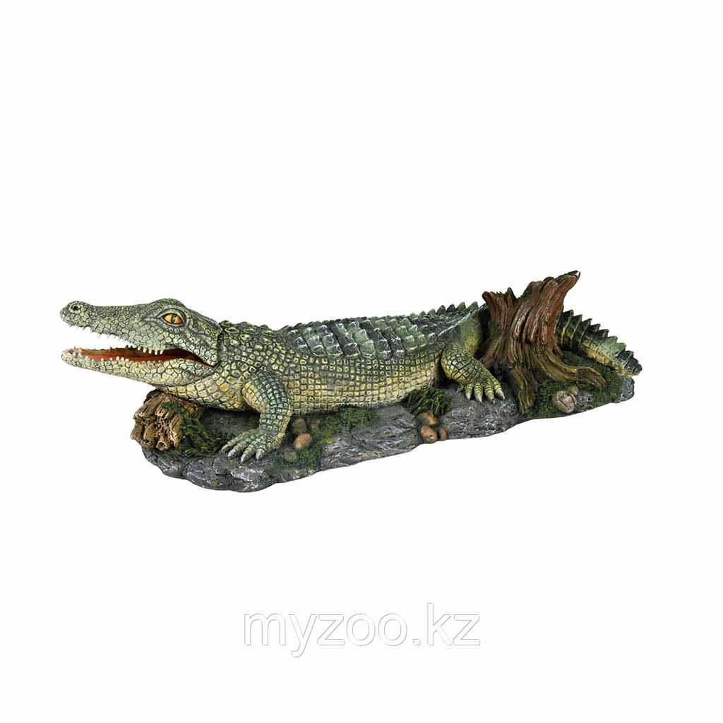 Декорация для аквариума. Крокодил. 26сm