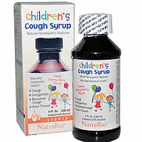 Детский сироп от кашля с вишневым вкусом, NatraBio,  120 мл