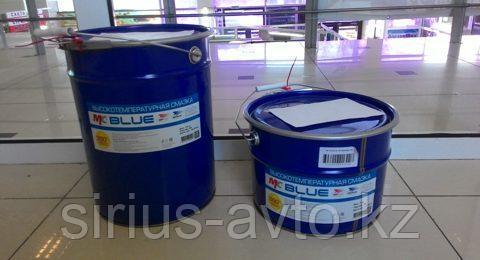 ВМП АВТО Высокотемпературная смазка МС 1510 Blue (Литиевый комплекс) для подшипников, ведро 9 кг