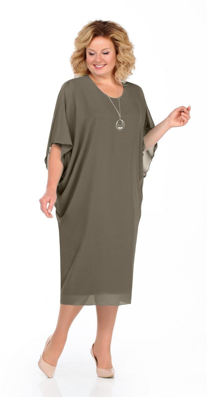 Платье Pretty-936/1, хаки, 54