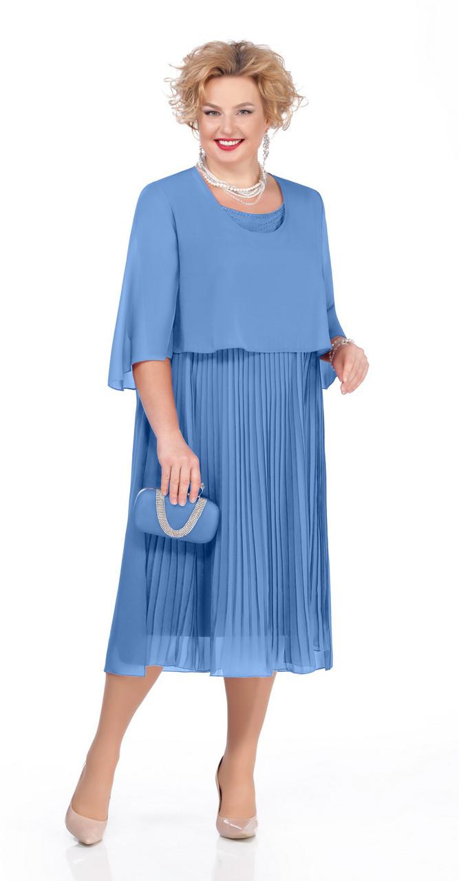Платье Pretty-960/2, голубой, 56