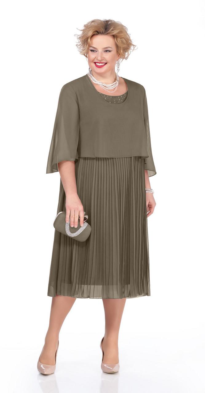 Платье Pretty-960/3, хаки, 56