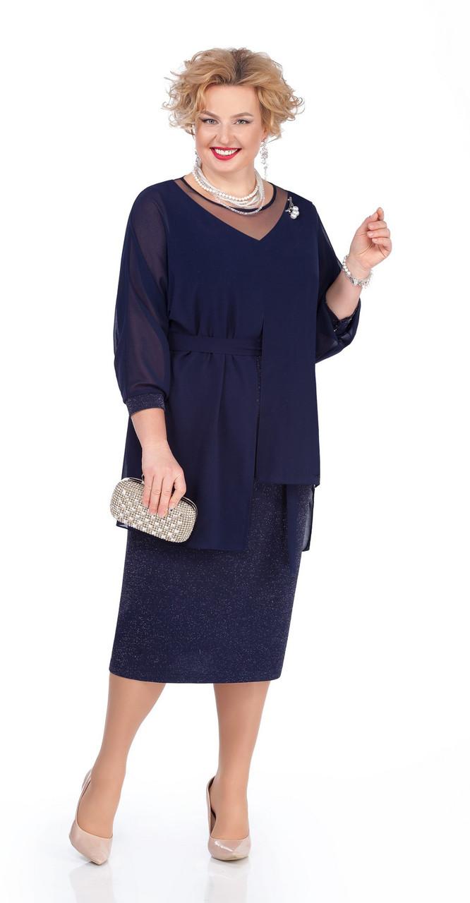 Платье Pretty-981, темно-синий, 56