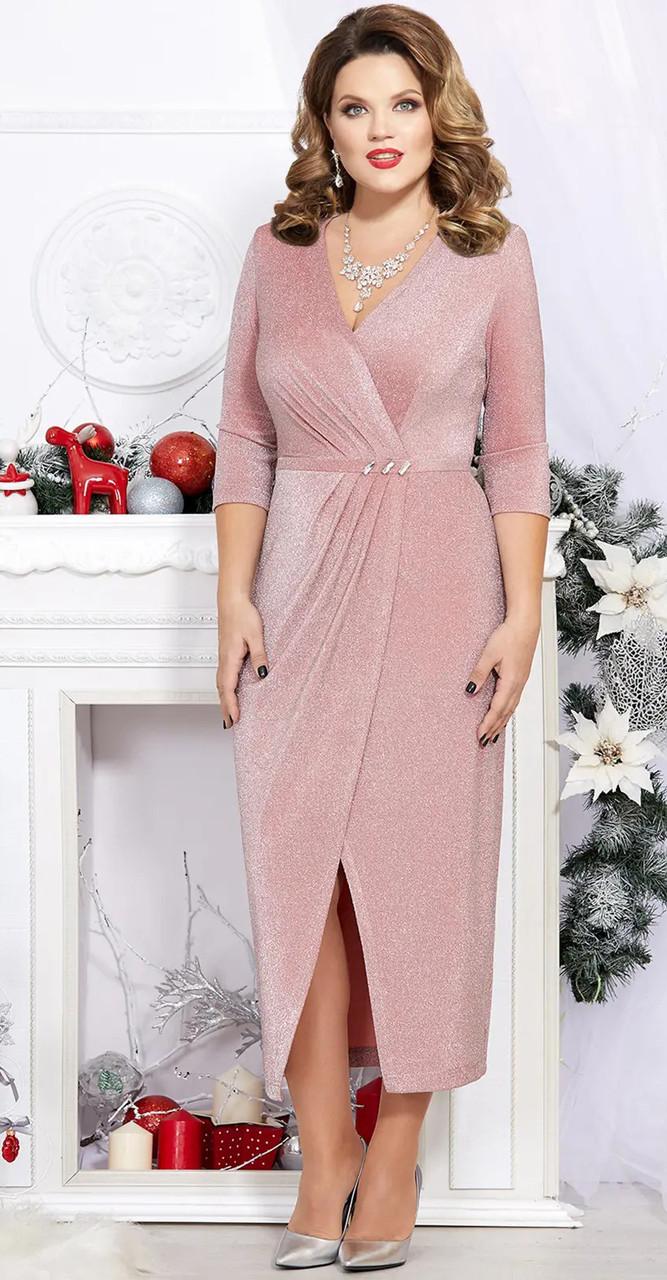 Платье Mira Fashion-4745, розовый, 46