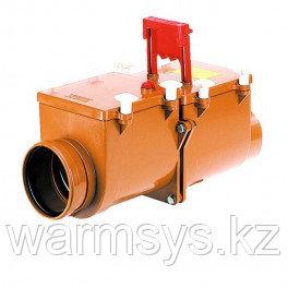 2-х камерный канализационный затвор с ручной фиксацией одной заслонки в закрытом положении HL710.2-720.2