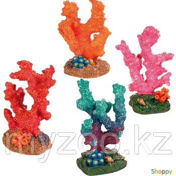 Декорация для аквариума. Коралл. Р-р 7 сm. В наборе 12 шт, 4 вида по 3шт. Цена за 1 шт