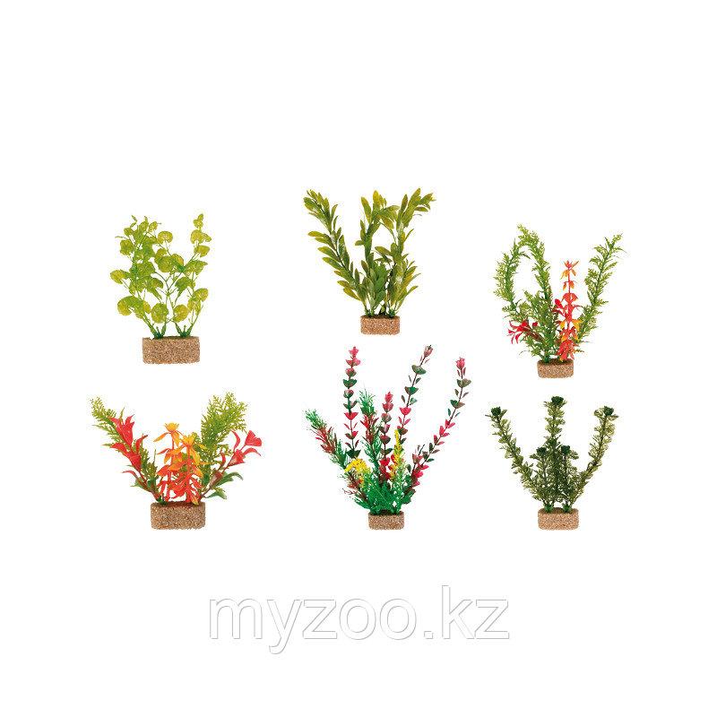 Декорация для аквариума. Пластиковые растения в ассортименте..  Высота 12 сm. В наборе 6 видов. Цена за 1 шт.