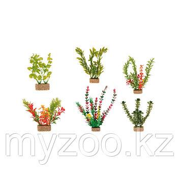 Декорация для аквариума. Пластиковые растения в ассортименте..  Высота 20 сm. В наборе 6 видов. Цена за 1 шт.