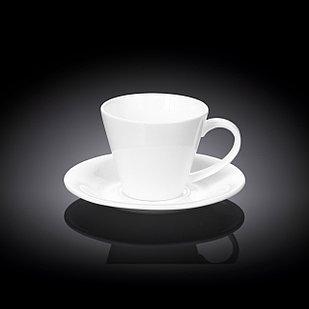Набор: чайная чашка и блюдце Wilmax 180 мл