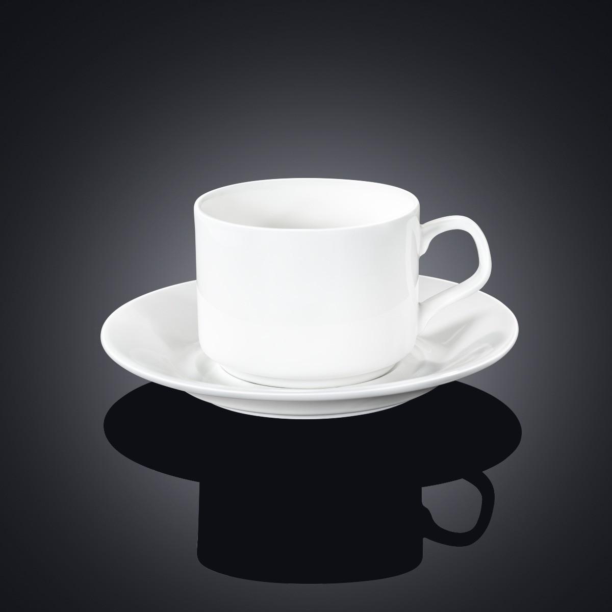 Чашка чайная + блюдце Wilmax 215мл