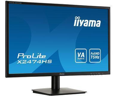 МониторLiyama LCD 23.8'' [16:9] 1920х1080(FHD) VA, nonGLARE, 250cd/m2, H178°/V178°, 3000:1, 12М:1, 16.7M,