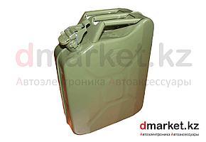 Канистра металлическая 20 литров, со стопорным кольцом, зеленая
