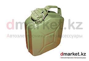 Канистра металлическая 5 литров, со стопорным кольцом, зеленая