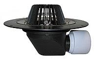 Воронка с листвоуловителем, с теплоизоляцией, с фланцем из нержавеющей стали, с горизонтальным выпуском HL64