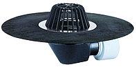 Воронка с листвоуловителем, с полимербитумным полотном Ø500 мм, с горизонтальным выпуском HL64H