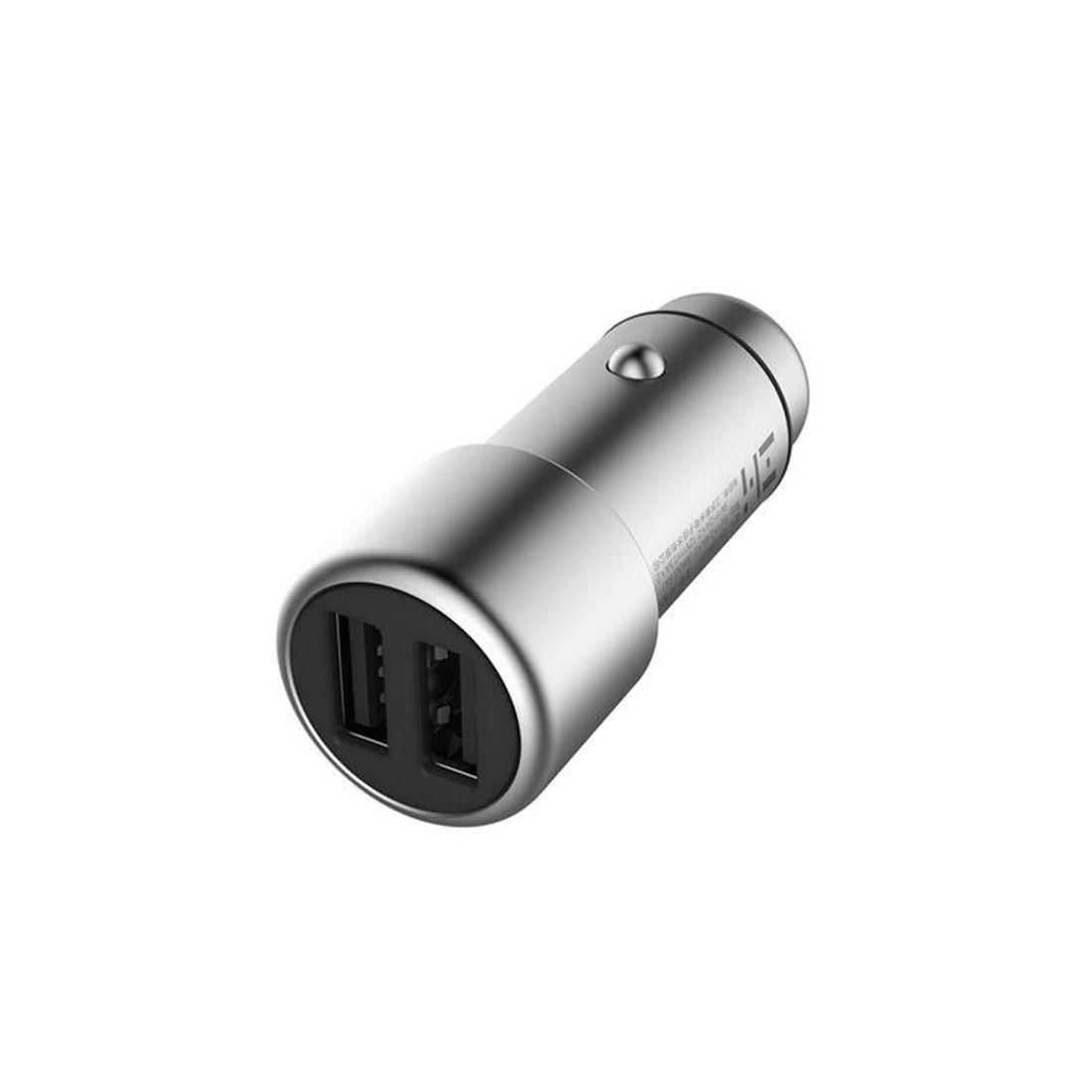 Xiaomi GDS4053СN Автомобильное USB зарядное устройство, V2 QC 3.0, ,4A*2 USB порта, LED-подсветка, Серебрист