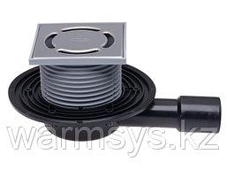 Трап для балконов HL90.2 с механическим незамерзающим запахозапирающим устройством