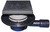 Трап с решёткой и подрамником из чугуна HL510NG