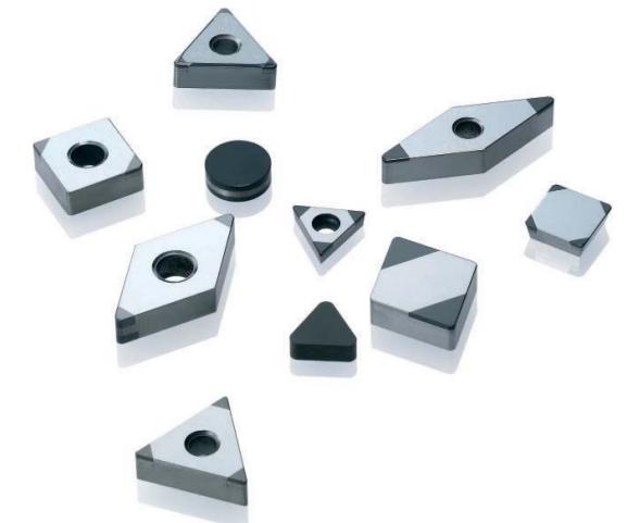 Пластины с PCD и PCBN вставками для токарной обработки