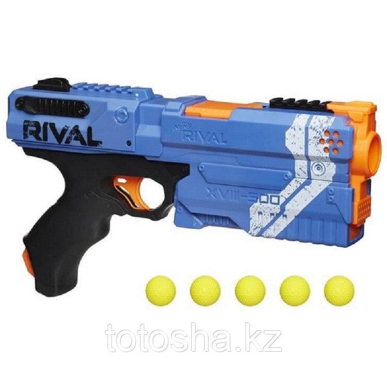 Nerf Rival Игровой набор Синяя команда бластер Райвал + шарики Кронос E3109